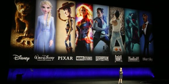 LAS VEGAS, NEVADA - APRIL 03:  President of Walt Disney Distribution Franchise Management, Business & Audience Insights Cathleen Taff speaks during Walt Disney Studios Motion Pictures special presentation during CinemaCon.