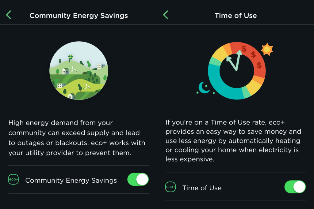 Ecobee community energy savings time of use