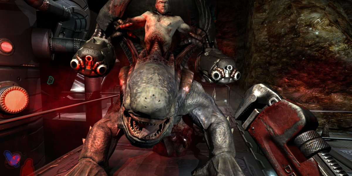 An enemy from Prey by Human Head Studios.
