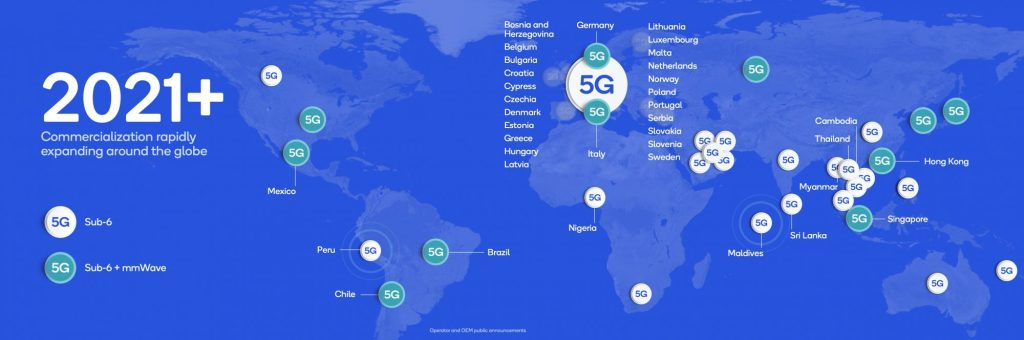 Qualcomm: 5G will cover major metros in 2020, developing countries in 2021