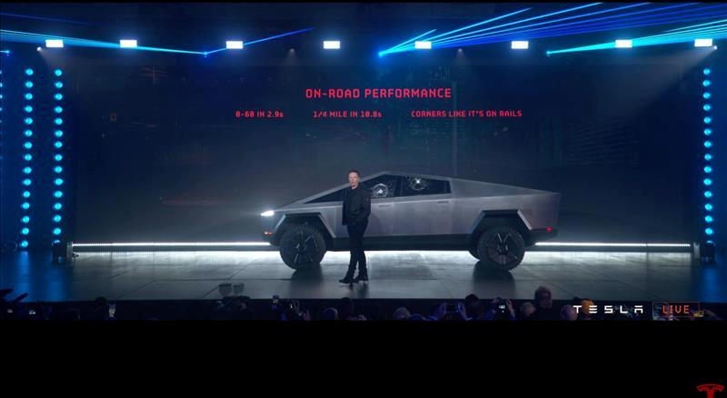 Business NewsNovember 22, 2019 / 4:30 AM / Updated 2 hours ago Tesla's electric pickup truck flouts convention with angular design and armored glass Naomi Tajitsu, Peter Henderson 5 Min Read (Reuters) - Tesla Inc (TSLA.O) on Thursday unveiled its electric pickup truck with a futuristic angular body in gunmetal gray that looked like an armored vehicle, as the California company took aim at the heart of Detroit automakers' profits. Tesla Chief Executive Elon Musk stands in front of the company's first electric pickup truck, the Cybertruck, after it was unveiled in Los Angeles, California, U.S., November 21, 2019, in this frame grab made from the livestream of the unveiling event. Tesla/Handout via REUTERS.