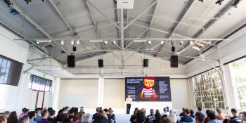 Edward Saatchi at the first Virtual Beings Summit in San Francisco.