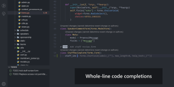 Visual Studio IntelliCode gets whole-line code completions, dynamic refactoring detection
