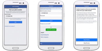 You don't have to share your phone number for Facebook logins anymore