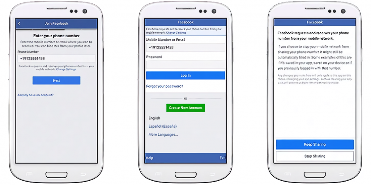 Or facebook login with number phone Help Center