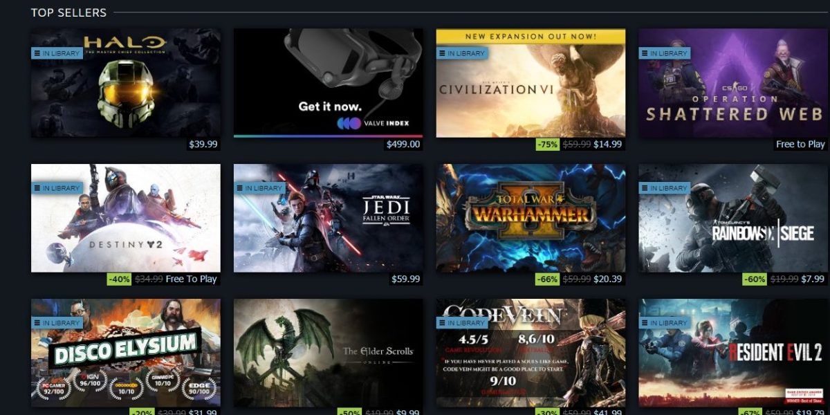 Halo is the top-selling game on Steam today.