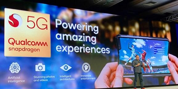 Presentation screen at 2019 Qualcomm Snapdragon Tech Summit
