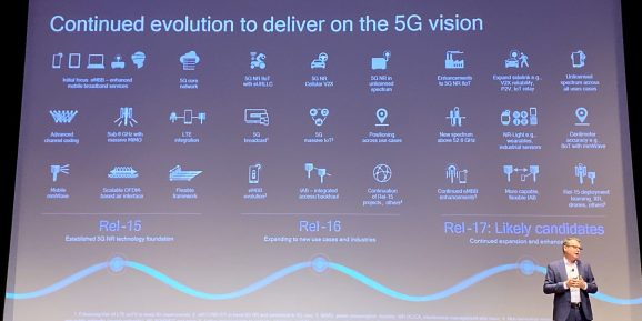 John Smee of 3GPP member Qualcomm discusses new features during the evolution of 5G's standard from today's Release 15 to next year's Release 16 and 2021's Release 17.
