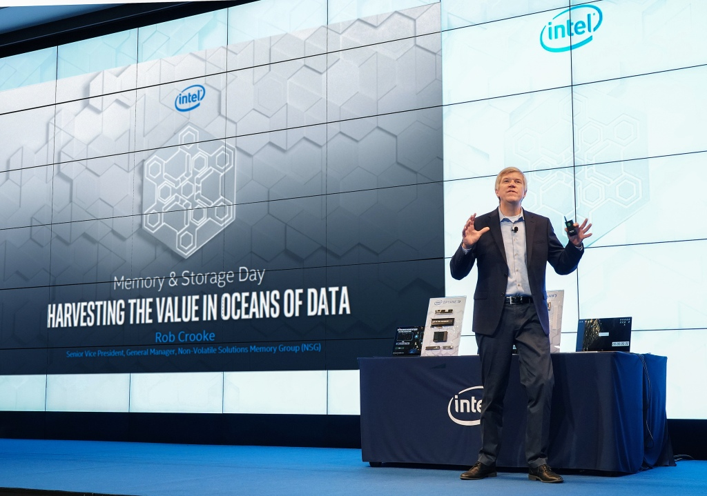 Rob Crooke, senior vice president of Intel's non-volatile memory solutions group, teased the future of persistent memory on client systems during his presentation at a recent event in South Korea.