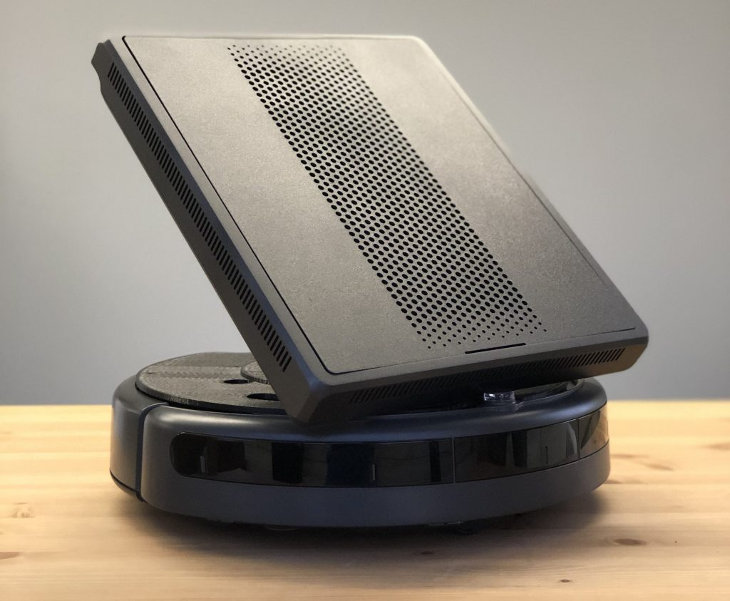 GuRu's Ragu prototype robot anticipates truly mobile wireless charging, in a form factor that can automatically move from room to room.