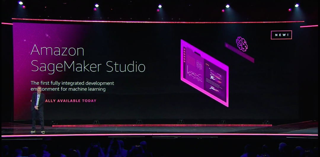 SageMaker Studio demo screen at AWS re:Invent 2019