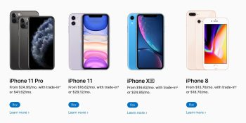 Apple Card Monthly Installments matches iPhone carriers with 0% interest