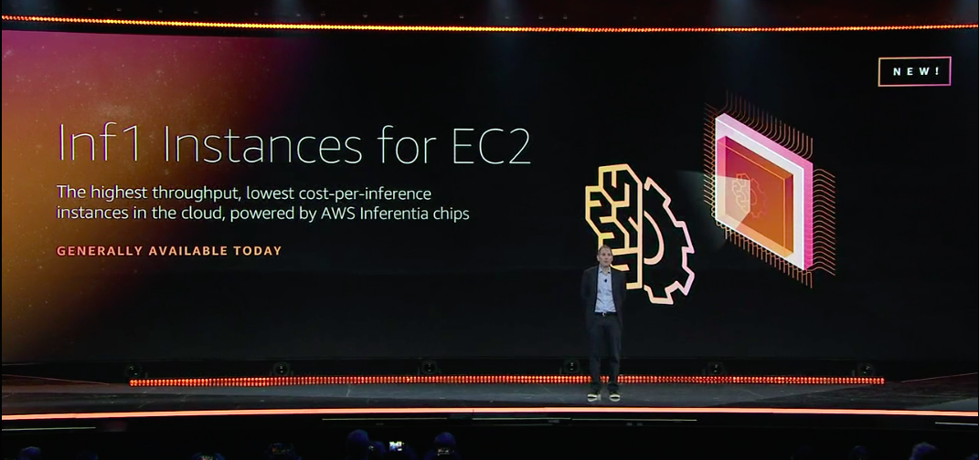 AWS CEO Andy Jassy onstage at re:Invent in Las Vegas