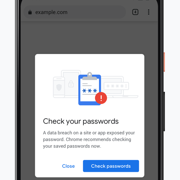 Chrome now checks your passwords