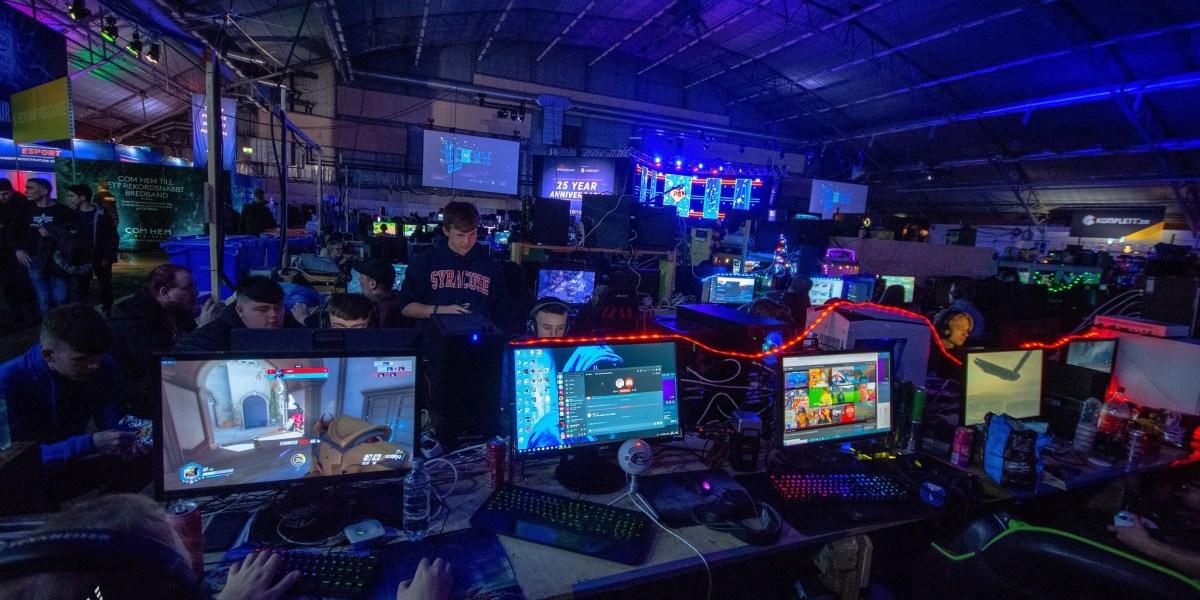 A Dreamhack LAN party.