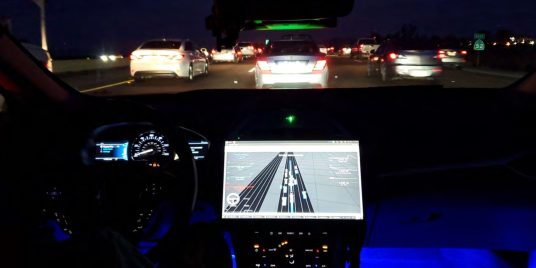 Qualcomm's Snapdragon Drive Pilot undergoes testing in stop-and-go traffic on highway 52 East.