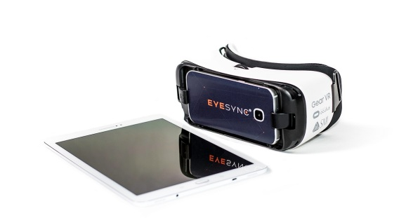 Eye-Sync VR headset and tablet.