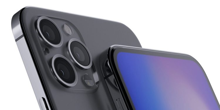 A conceptual rendering of the iPhone 12 Pro by Ben Geskin and Aziz Ghaus.