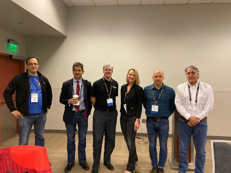 RISC-V board members, (left to right): Krste Asanovic, Zvonimir Bandic, Ted Speers, Calista Redmond, Frans Sijstermans, and Rob Oshana.