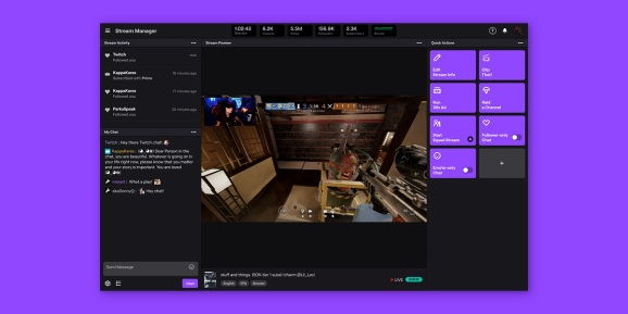 Twitch's new dashboard for creators.
