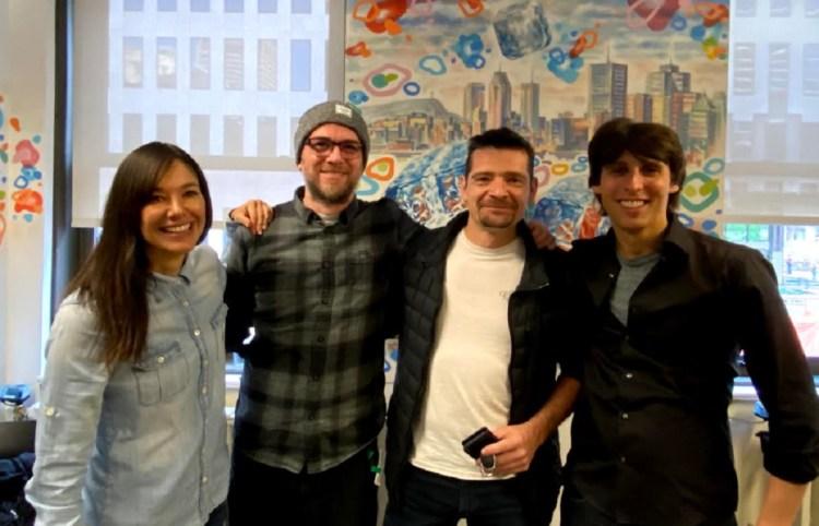 Typhoon and Google: (left to right) Jade Raymond, Alex Hutchinson, and Sebestien Puel.Reid Schneider