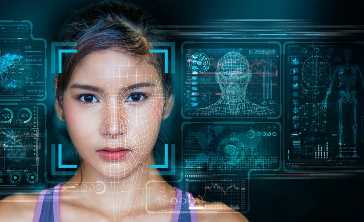 Facial Recognition System concept with Face Recognition