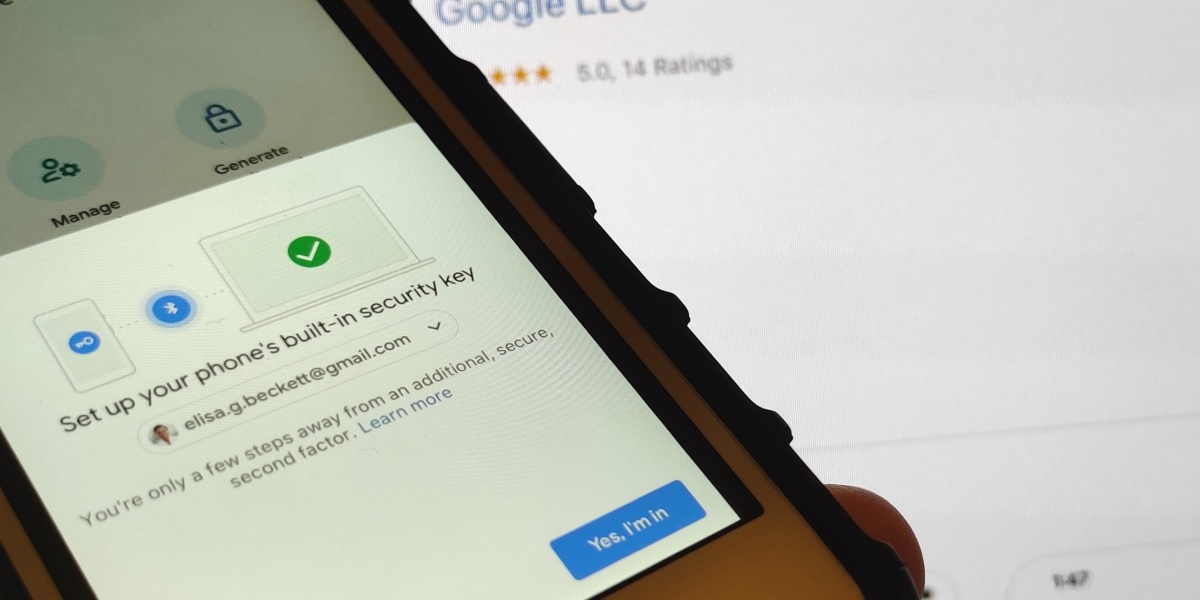Using an iPhone as a security key with Google Accounts