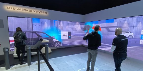 Samsung had a larger but not particularly compelling 5G area at its CES 2020 booth.