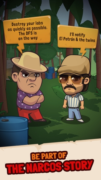 Narcos: Idle Cartel is an idle clicker game.