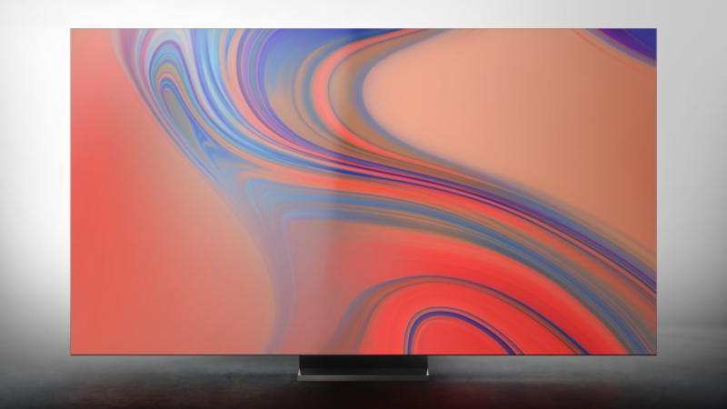 Samsung's Sero display switches orientations to mirror a paired smartphone