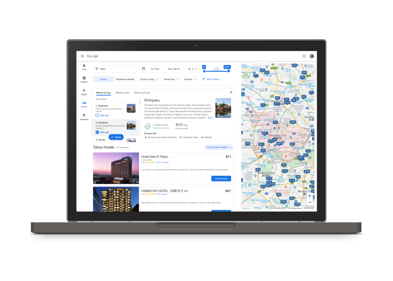 Google now includes taxes and fees in hotel searches