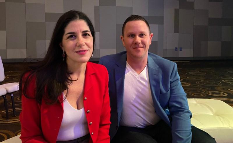 ESL's Yvette Martinez-Rae and Paul Brewer.