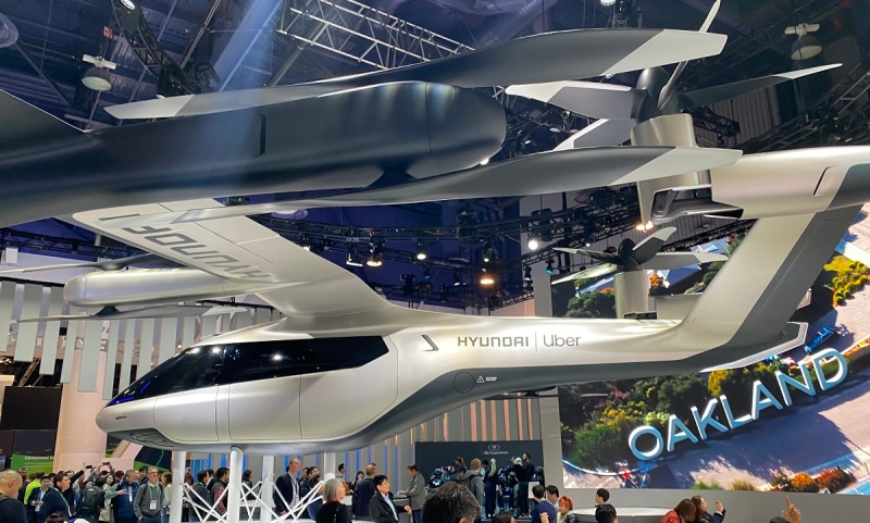 Hyundai's prototype for an Uber flying taxi.