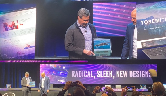 Intel shows off a foldable laptop at CES 2020.