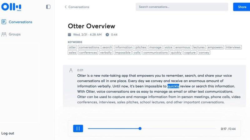 AISense raises $10 million for AI transcription tool Otter