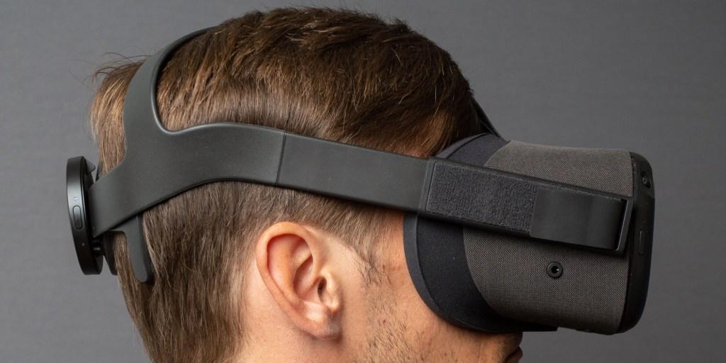 NextMind device on an Oculus VR headset