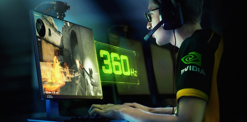 Nvidia 360 Hz G-Sync monitor for competitive gaming.