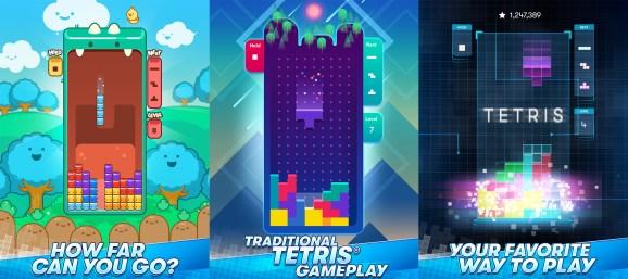 Tetris on mobile.