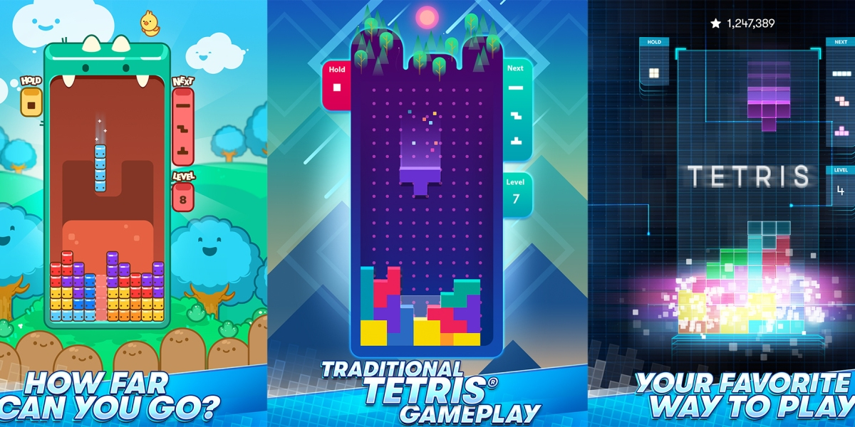 Tetris on mobile.