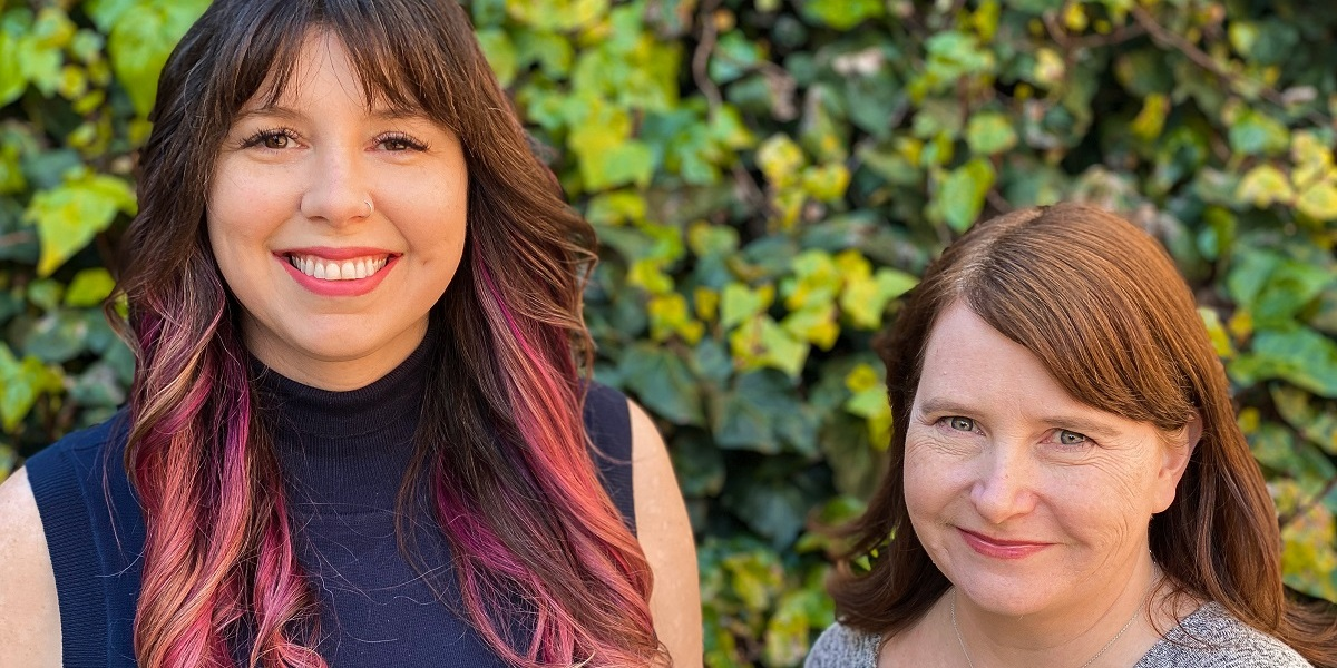 Shelby Moledina (left) and Emily Greer are the founders of Double Loop Games.