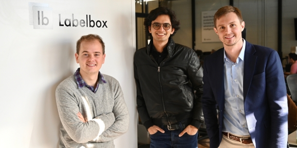 Labelbox CTO Dan Rasmuson, CEO Manu Sharma, and COO Brian Rieger