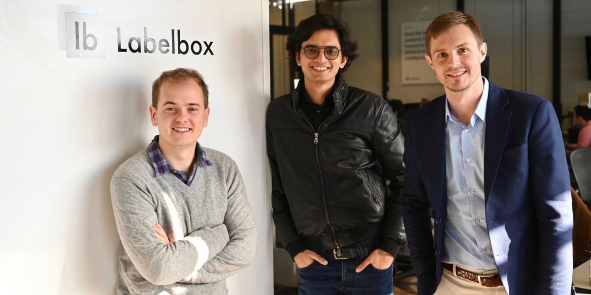 Labelbox CTO Dan Rasmuson, CEO Manu Sharma, and COO Brian Rieger