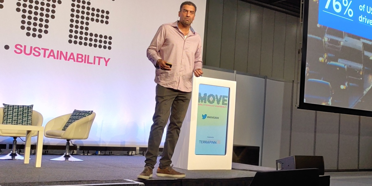Raj Kapoor: Lyft's chief strategy officer and head of autonomous business gives a keynote at the MOVE 2020 conference in London, February 11, 2020