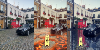 Snapchat adds lava and water AR Lenses using ground segmentation and ML