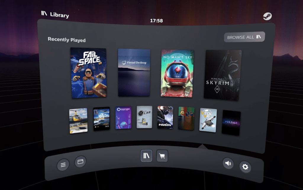 SteamVR beta adds new dashboard, Oculus Quest icon - VentureBeat