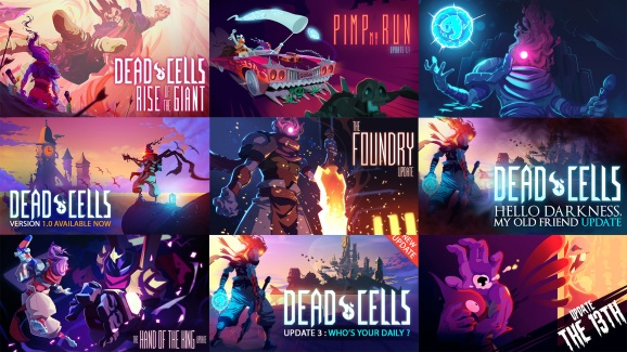 Dead Cells has seen a lot of updates ... and you can go back and revert it to any previous one now.