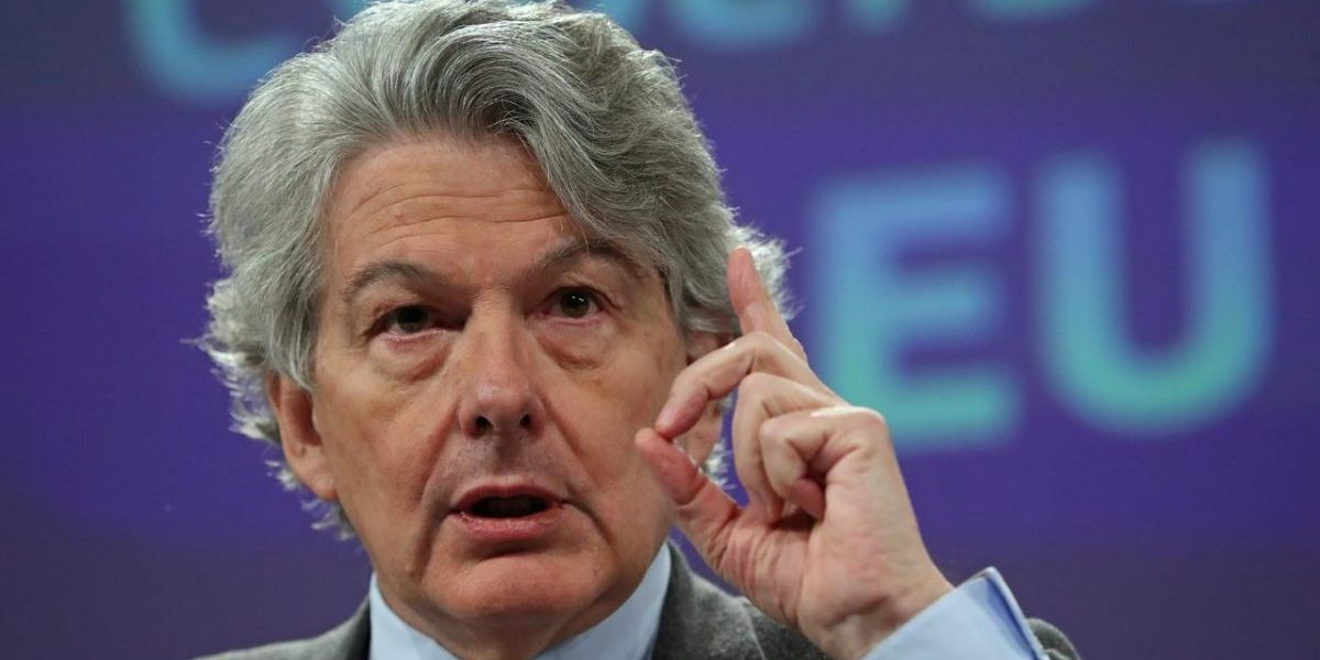 European Commissioner for the Internal Market Thierry Breton.