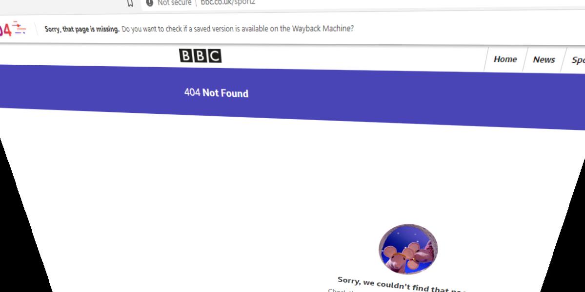 404 Error inside Brave's browser