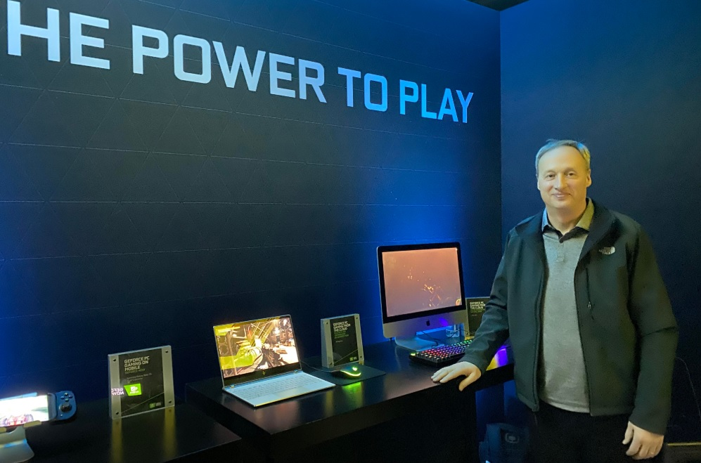 GeForce Now general manager Phil Eisler at CES 2020.
