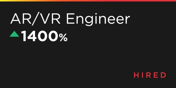 AR/VR engineers are in high demand.